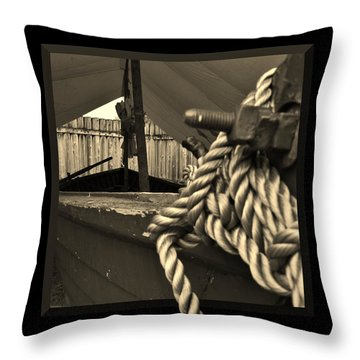 Voyage To The New World Throw Pillow by Barbara St Jean