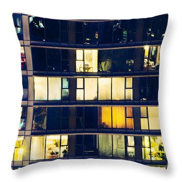 Voyeuristic Pleasure Cdlxxxviii Throw Pillow by Amyn Nasser