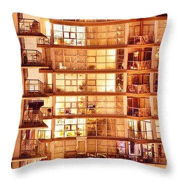 Throw Pillow featuring the photograph Voyeuristic Pleasures Cdxci by Amyn Nasser