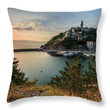 Vrbnik Throw Pillow by Davorin Mance