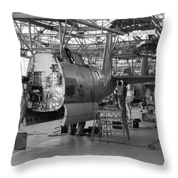 Vultee Aircraft Company Nashville 1941 Throw Pillow