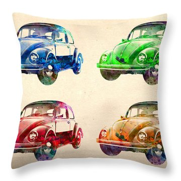 Vw 2 Throw Pillow by Mark Ashkenazi