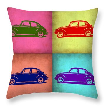 Vw Beetle Pop Art 1 Throw Pillow by Naxart Studio
