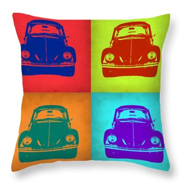 Vw Beetle Pop Art 5 Throw Pillow by Naxart Studio