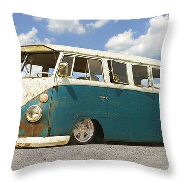 Vw Lowrider Bus Throw Pillow