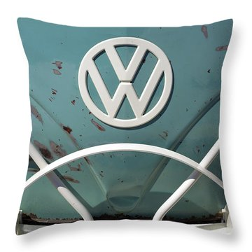 Vw Oldie But Goodie Throw Pillow by Jane Eleanor Nicholas