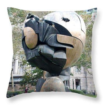 W T C Fountain Sphere Throw Pillow by Rob Hans