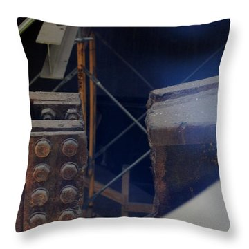 W T C Steel  Throw Pillow by Rob Hans