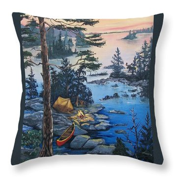 Wabigoon Lake Memories Throw Pillow