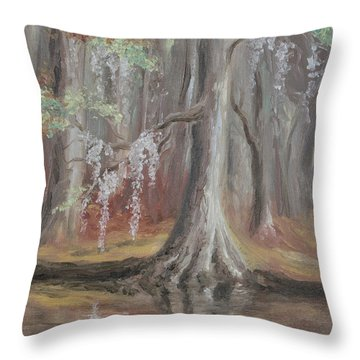 Waccamaw River Cypress Throw Pillow