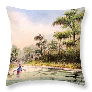 Wacissa River  Throw Pillow by Bill Holkham