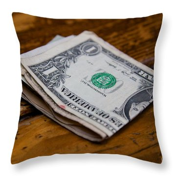 Wad Of Cash Throw Pillow