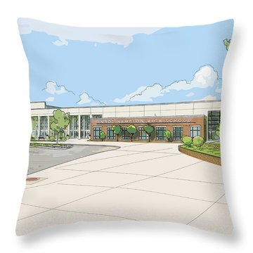 Wade Hampton High School Throw Pillow