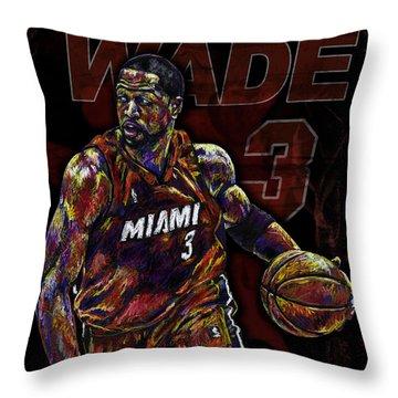 Wade Throw Pillow by Maria Arango