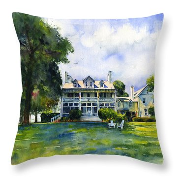 Wades Point Inn Throw Pillow