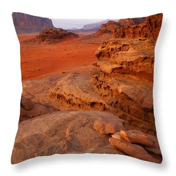 Wadi Rum Desert, Jordan Throw Pillow