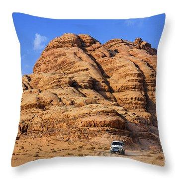 Wadi Rum In Jordan Throw Pillow by Robert Preston