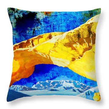 Wadi Rum Natural Arch Throw Pillow by Catf