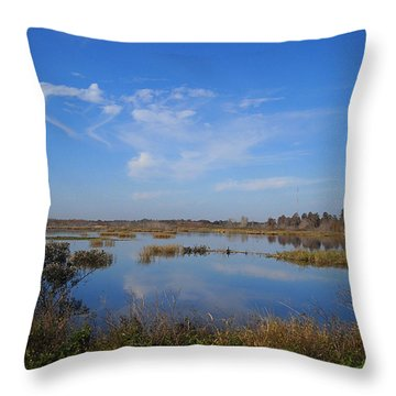 Wading Bird Way 001 Throw Pillow