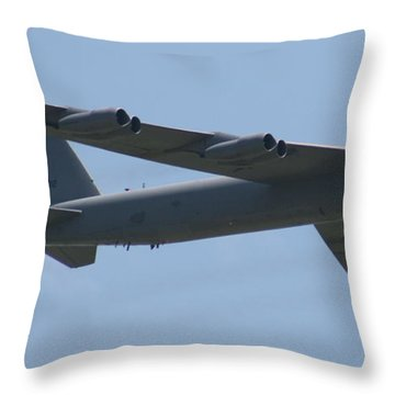 Wafb 09 B52 Stratofortress Throw Pillow by David Dunham