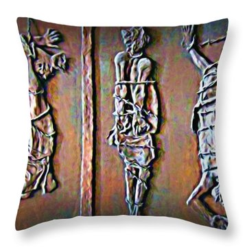 Wages Of Sin Throw Pillow by John Malone