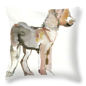 Waggle Arabian Wolf Pup Throw Pillow