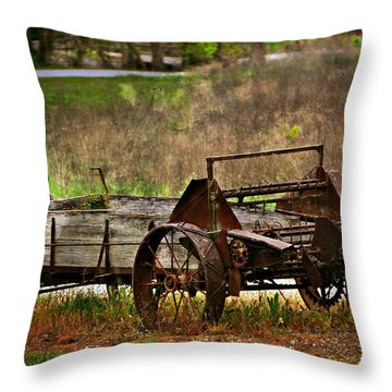 Wagon Throw Pillow by Marty Koch