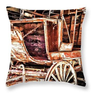 Throw Pillow featuring the painting Wagon by Muhie Kanawati