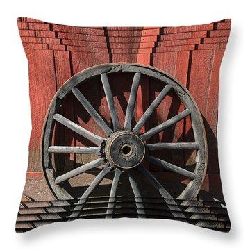 Wagon Wheel Zoom Throw Pillow
