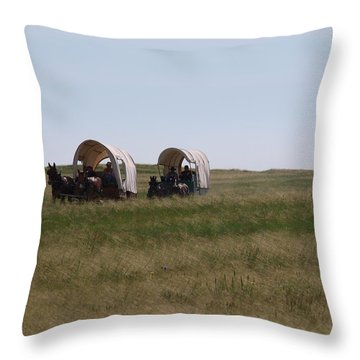 Wagons Ho Throw Pillow