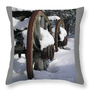 Throw Pillow featuring the photograph Wagons West by Jennifer Lake