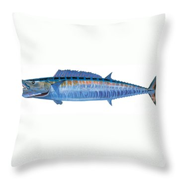 Wahoo Throw Pillow by Carey Chen