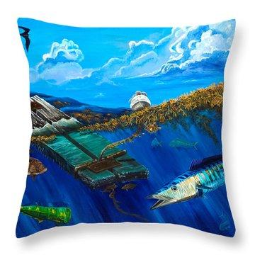 Wahoo Under Board Throw Pillow