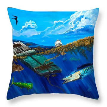Wahoo Under Board Throw Pillow