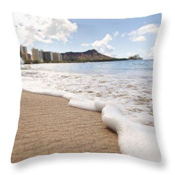 Waikiki Shore Throw Pillow by Brandon Tabiolo