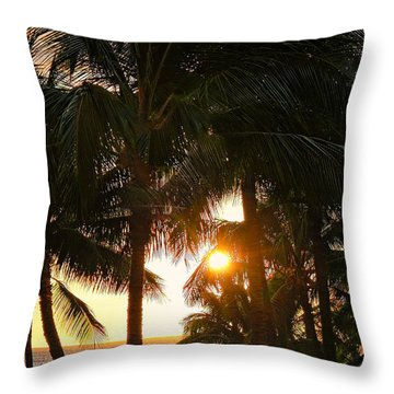 Waikoloa Palms Throw Pillow