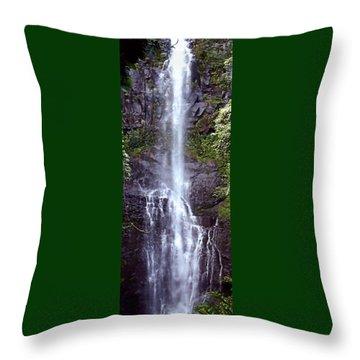 Wailua Falls Maui Hawaii Throw Pillow by DJ Florek