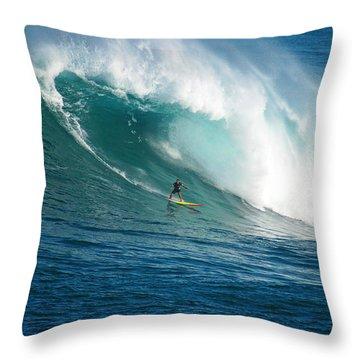 Waimea Bay Hawaii Throw Pillow by Kevin Smith