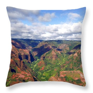 Throw Pillow featuring the photograph Waimea Canyon by Amy McDaniel