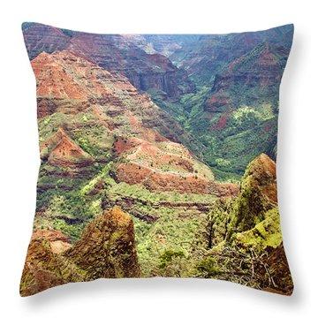 Waimea Canyon Throw Pillow by Scott Pellegrin