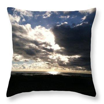 Throw Pillow featuring the photograph Waimea Sunset by Alohi Fujimoto