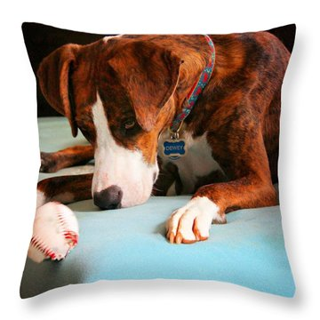Throw Pillow featuring the photograph Wait For It      Wait For It by Robert McCubbin