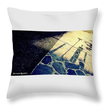 Throw Pillow featuring the photograph Wait In The Shade by Stwayne Keubrick
