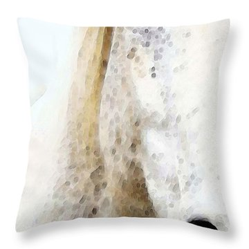 Horse Art - Waiting 2 - By Sharon Cummings Throw Pillow