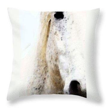 Horse Art - Waiting 2 - By Sharon Cummings Throw Pillow