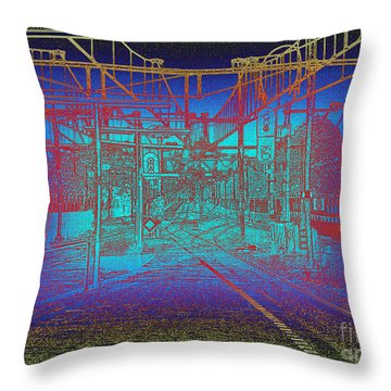 Waiting At Gouda Station Throw Pillow