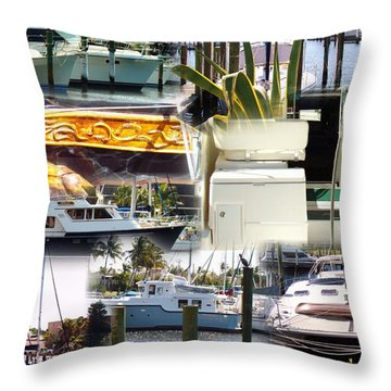 Waiting At The Dock Throw Pillow