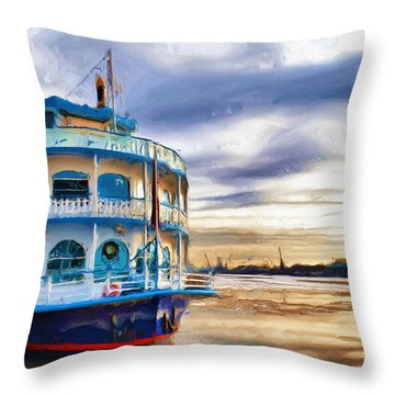Waiting Throw Pillow by Ayse Deniz