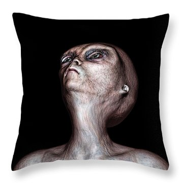 Waiting Throw Pillow by Bob Orsillo