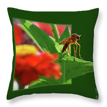 Throw Pillow featuring the photograph Waiting For A Date by Thomas Woolworth